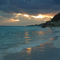 elbow beach, stormy sunset