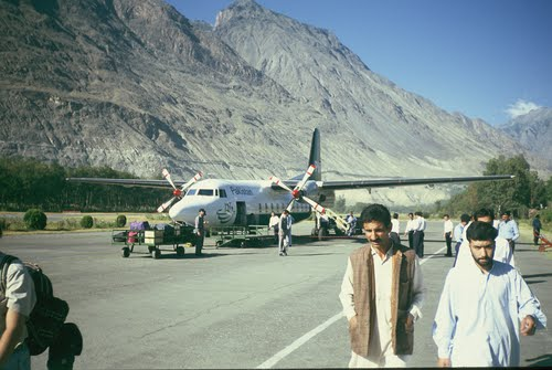 Gilgit airport North Pakistan