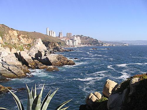 Camino costero a Con-Con, Viña del Mar, Chile. 442918